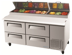Turboair CTPR-67SD-D4 Pizza Prep Table 4 Drawer