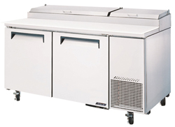 Turboair CTPR-67SD Pizza Prep Table 2 Doors Air Over Pans