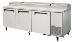 Turboair CTPR-93SD Pizza Prep Table 3 Doors Air Over Pans