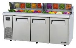 Turboair KHR18-3 Salad Prep Table 3 Doors Side Unit