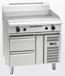 Waldorf GP8900G-RB Gas 900 Griddle Refrigerated Base