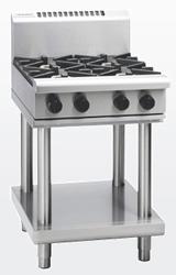 Waldorf RN8403G-LS Gas Cook Top 2 Burner 300 Griddle Leg Stand