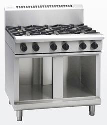 Waldorf RN8600G-CB Gas Cook Top 6 Burner Cabinet Base