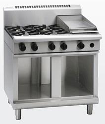 Waldorf RN8603G-CB Gas Cook Top 4 Burner 300 Griddle Cabinet Base