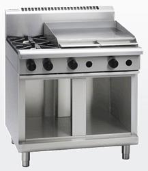 Waldorf RN8606G-CB Gas Cook Top 2 Burner 600 Griddle Cabinet Base