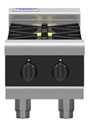 Waldorf Bold RNLB8200G-B Low Back Gas Cooktop 2 Burner Bench Model