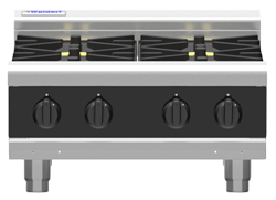 Waldorf Bold RNLB8400G-B Low Back Gas Cooktop 4 Burner Bench Model