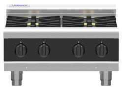 Waldorf Bold RNLB8403G-B Low Back Gas Cooktop 2 Burner 300 Griddle Bench Model