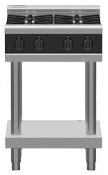 Waldorf Bold RNLB8403G-LS Low Back Gas Cook Top 2 Burner 300 Griddle Leg Stand