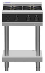 Waldorf Bold RNLB8406G-LS Low Back Gas 600 Griddle Leg Stand