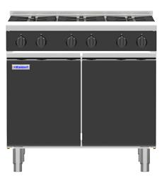 Waldorf Bold RNLB8603G-CD Low Back Gas Cook Top 4 Burner 300 Griddle Cabinet Base