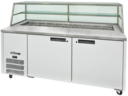 Williams Jade HJ2SCBA 2 Door Sandwich Prep Counter with Canopy