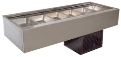 Woodson WCFN25-SS 5 Module Cold Food Displays Self Serve Flat Deck Models