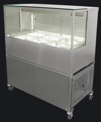 Woodson WCFSQ23-65 6 x 1/2Gn Pan Square Profile Cold Food Display