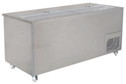 Woodson WSM-1330 2 Door 7 x 1/3GN Pans Sandwich Preparation Fridge Flat Deck