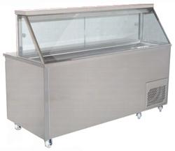 Woodson WSMS-1330 2 Door 7 x 1/3GN Pans Sandwich Preparation Fridge Straight Glass