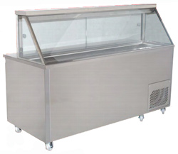 Woodson WSMS-914 1 Door 4 x 1/3GN Pans Sandwich Preparation Fridge Straight Glass