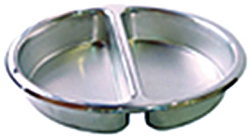 Yellow Induction HA6-522 Round Divided Stainless Steel Insert