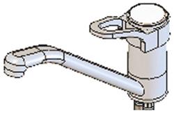 Yellow Tapware YLM307 Premium Deck Mount Flick Mixer 180mm Swing Nozzle