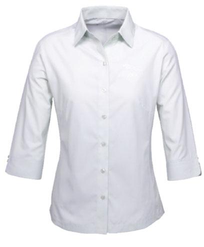 Ladies Silver/Grey 3/4 Sleeve Shirt
